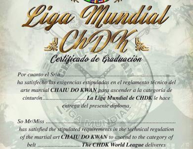NUEVOS MODELOS DE DIPLOMAS La Liga Mundial de CHDK